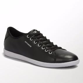Zapatillas Cuero Negra Stone