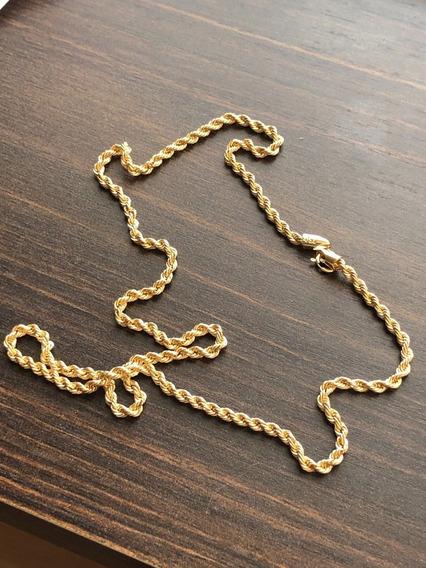 Cordão Baiano Ouro 18k 45 Cm 2mm