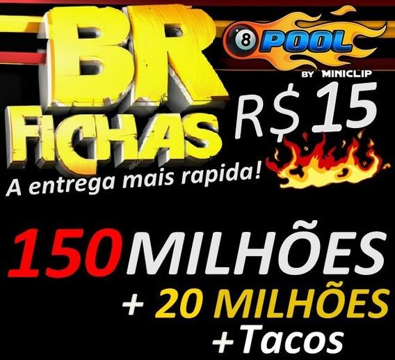 8 Ball Pool Fichas 170 Milhões E Tacos De Brinde