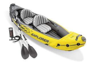 Kayak Inflable Intex Explorer K2 Doble Asiento Lago Rio Mar