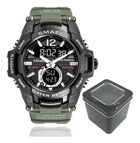Relógio Masculino Smael 1805 Sport Anti-shock Dual-time