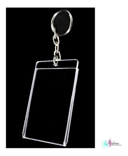 Imagen 1 de 4 de Llaveros De Acrilico De 2mm Cristal 3,5x5cm 150pzas $710