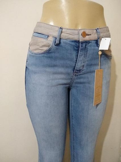 Calça Consciencia Jeans Couro Caramelo Tamanho 36 Ao 42