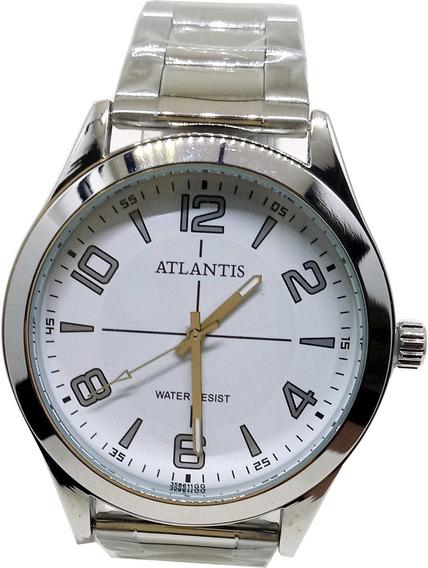 Relógio Atlantis Masculino Prata