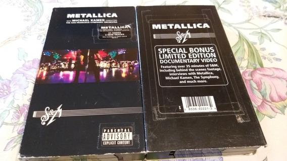 Vhs Metallica (s&m) W/ Michael Kamen + Bonus Ltd Doc