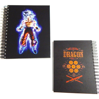 Dragon Ball Cuaderno Goku Ultra Instinto Pasta Dura 180 Hjs