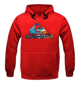 Blusa Moleton Qk Skatbord Surf Canguru Blusão De Frio Casaco