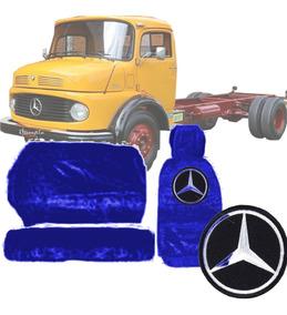 Capa De Banco Chinil Logotipo Caminhão Mercedes Benz 1113