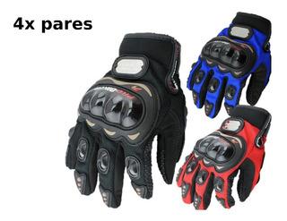 4x Pares Luva Protetora Moto Motocross Bike Pro Biker Cores