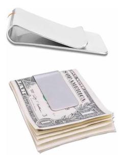 Clipe Prendedor Dinheiro Aço Inox Money Clip Carteira Notas