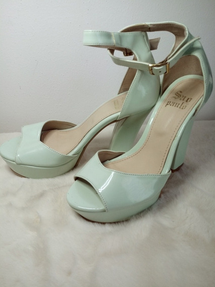 Zapatos Altos Charol Aqua