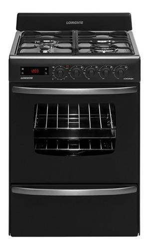 Imagen 1 de 3 de Cocina Longvie Eurodesign 21501 gas natural 4 hornallas  grafito 220V puerta  con visor 66.5L