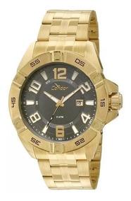 Relógio Condor Masculino Dourado Co2315az Grande Analógico