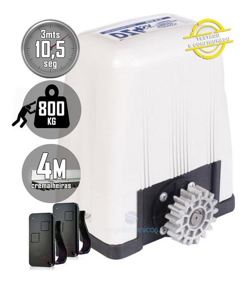 Kit Motor 1/3hp Portão Deslizante 4mt 800kg Rossi Dz4 Turbo