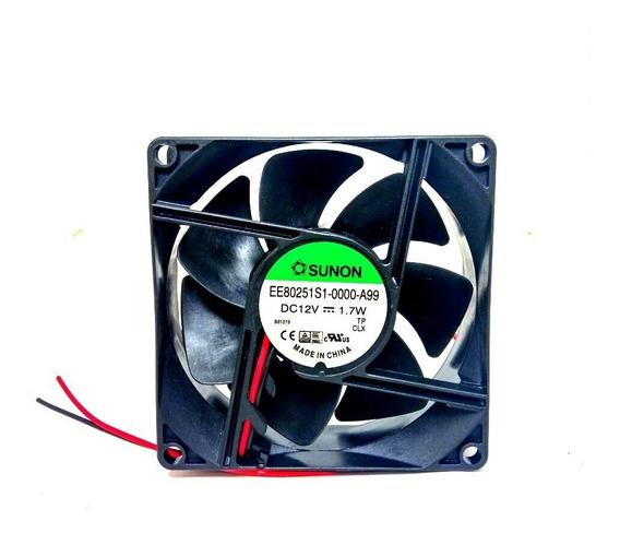 Turbina Fan Cooler 80x80x25mm 12v C/ Buje Ventilador Sunon