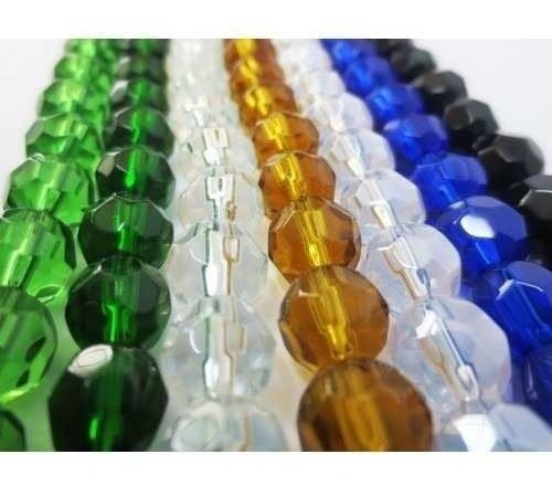 92 Contas De Cristal Vidro 12mm Cores Umbanda Candomble