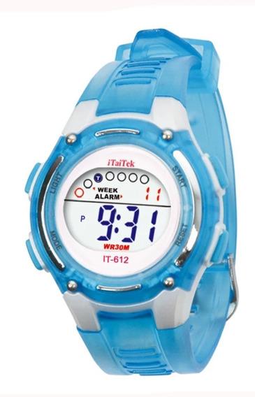 Relógio Infantil Digital Com Alarme Luz Data Original