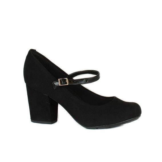 Sapato De Salto Moleca Preto
