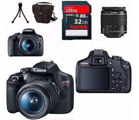 Câmera Canon Rebel T7 Com 18-55 + 32gb+bolsa+tripé C/nf-e