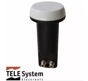 2 Lnb Duplo ( 2 Saidas) Telesystem Tst W12-1 Hd Ku Universal