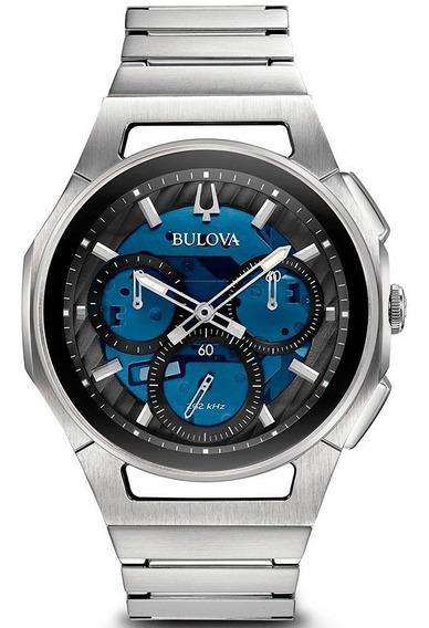 Reloj Bulova Curv Cronógrafo Original Para Hombre 96a205
