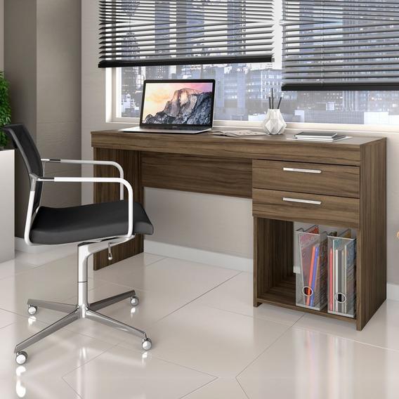 Escrivaninha 2 Gavetas Notável Office Nogal