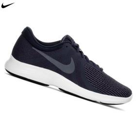 Zapatilla Nike Revolution 4 Para Hombre - Azul Acero