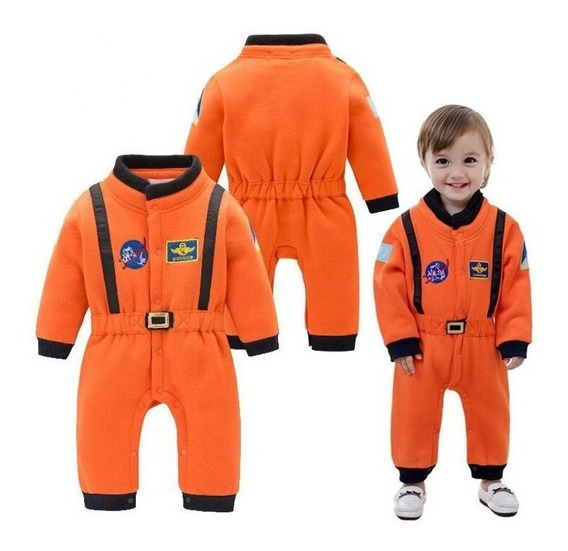 Roupa Fantasia Astronauta Nasa Comandante Bebê Infantil