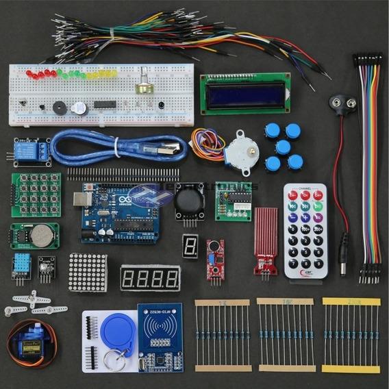 Kit Avançado Rfid Arduino Uno Diversos Sensores Componentes