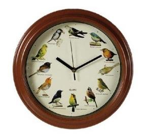 Relógio De Parede Clock Com Canto De Pássaros