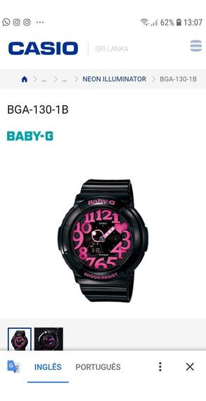 Relogio Casio Baby G Bga130 1b