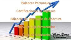 Balances, Certificaciones Proyectos Y Mas....
