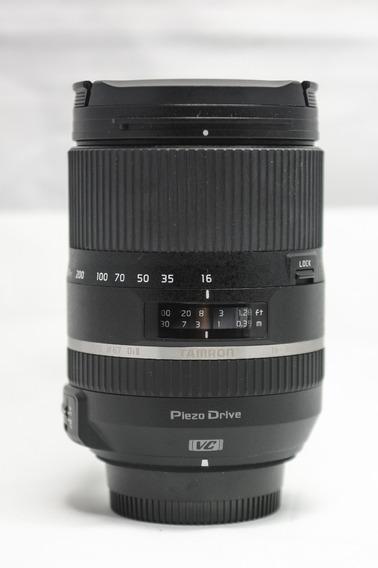 Lente Tamron 16-300 3.5-6.3 Vc Para Nikon Com Estabilização De Imagem