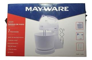 Batidora Con Pedestal Mayware Ga-091 100 Watts 7 Velocidades