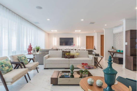 Apartamento Com 4 Dormitórios À Venda, 265 M² Por R$ 3.200.000,00 - Santa Paula - São Caetano Do Sul/sp - Ap2515
