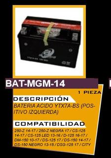 Bateria Ytx7a Bs Motoneta Yamaha+envio Gratis Batmgm14