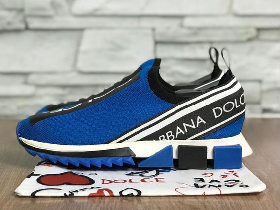 Tênis Dolce & Gabbana Unissex Azul Bic - Na Caixa Barato