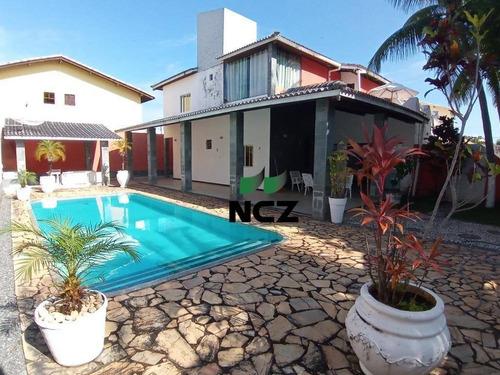 Casa Com 5 Dormitórios À Venda, 300 M² Por R$ 1.200.000,00 - Guarajuba - Camaçari/ba - Ca0510
