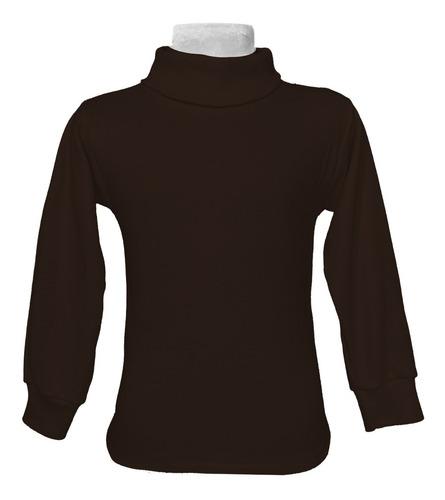 Imagen 1 de 1 de Camiseta Cuello Alto Niños Adultos Unisex Algodón Unitalla