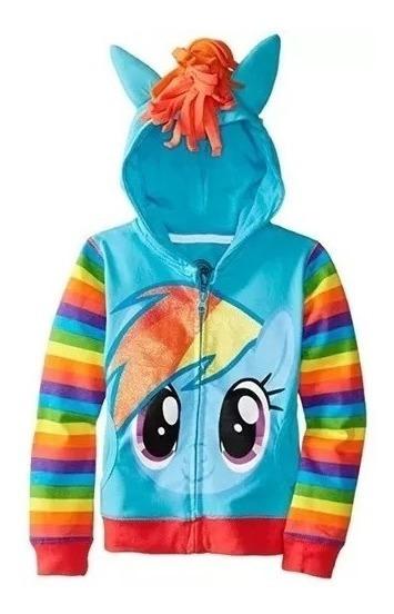 Sudadera My Little Pony Con Capucha Azul Multicolor