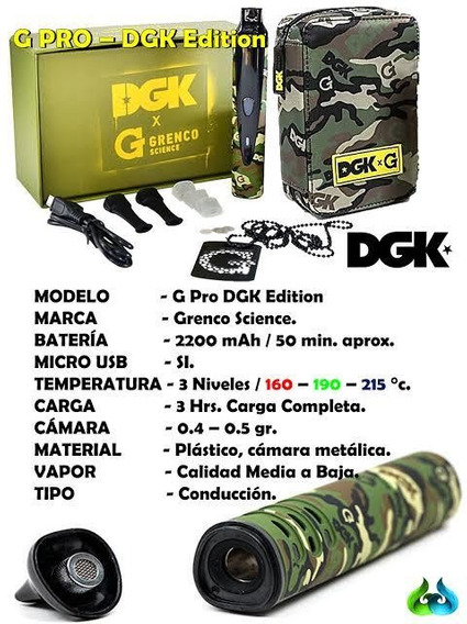 Vaporizador G-pro Dgk-grencoCor Camuflado Militar