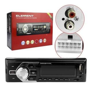 Radio Element, Radio Para Carro Con Fm, Auxiliar, Usb.