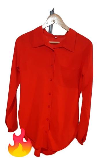 Camisa Camisola Larga Tela Pomplin 3 Colores A Eleccion