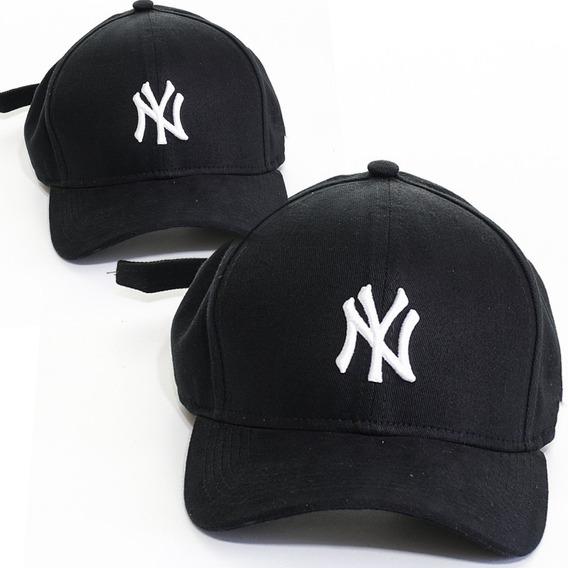 Bone Aba Curva Ny Yankees Preto Trucker Snapback Promoção
