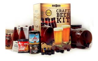 Mr. Beer Kit De Cerveza Casera, Premium Gold Edition, Marrón