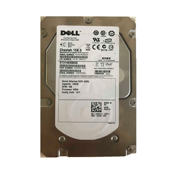 Hd Sas Dell Cheetah 15k.6 146gb - St3146356ss