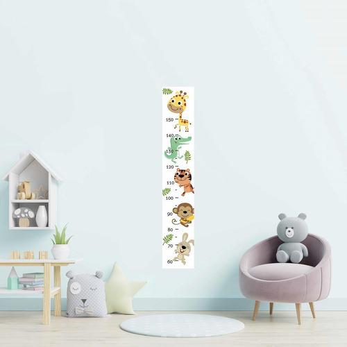 Imagem 1 de 2 de Régua Adesiva Infantil Animais Da Floresta N09211 20x115cm