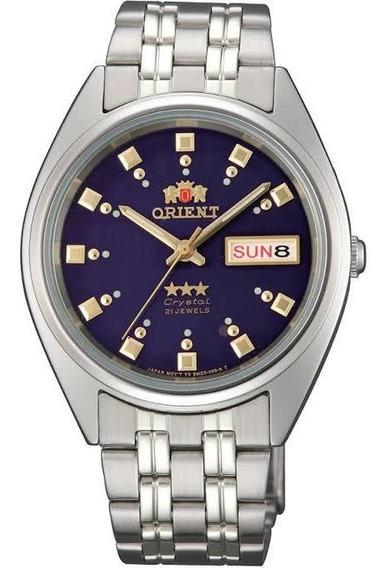 Reloj Orient Automático Azul Fab00009d9 Plateado Original