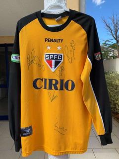 Camisa Spfc Ceni 1999 - Autografada Kaká, França, Leonardo