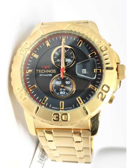 Relógio Original Technos Masculino Dourado Os11ed/4p